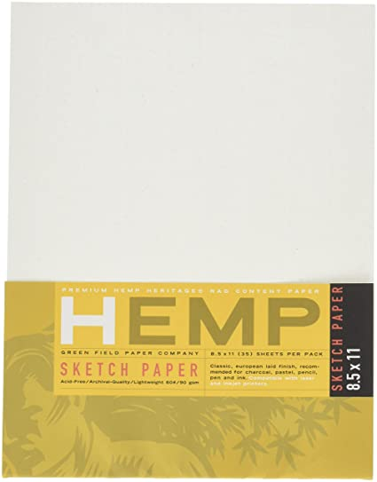 amazon com hemp sketch paper pack 8 5 x 11 loose drawing paper