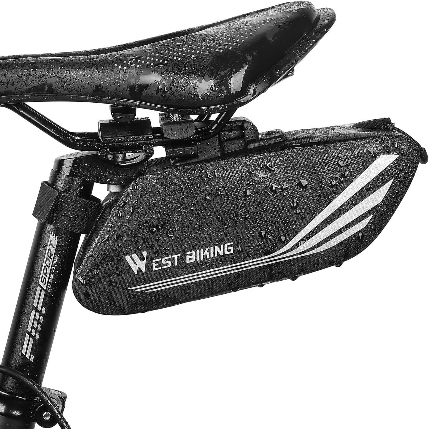 Light Bike Bicycle Cycling Saddle Bag Seat Storage Tail Rear Pouch 56g fast ship