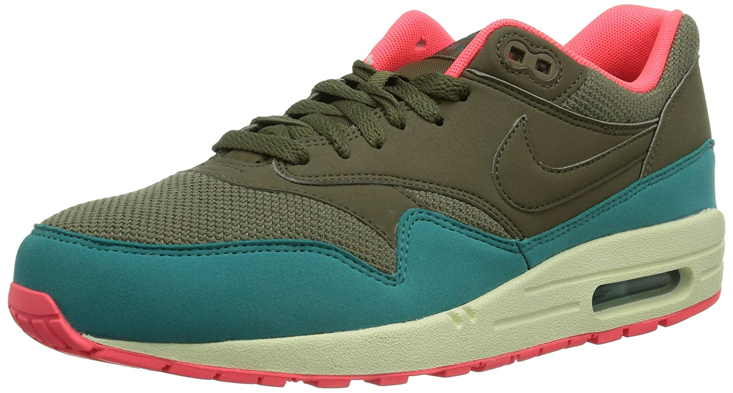 Nike Air Max 1 Essential 537383_Anderes Leder Herren Low-Top Sneaker  42 EU|Braun (Braun/Orange)