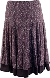 Gianni Bini Womens Pleated Floral Silk Molly Skirt