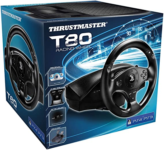 Buy Thrustmaster: Racing Wheel for PS3/PS4 - T80 RS Edition