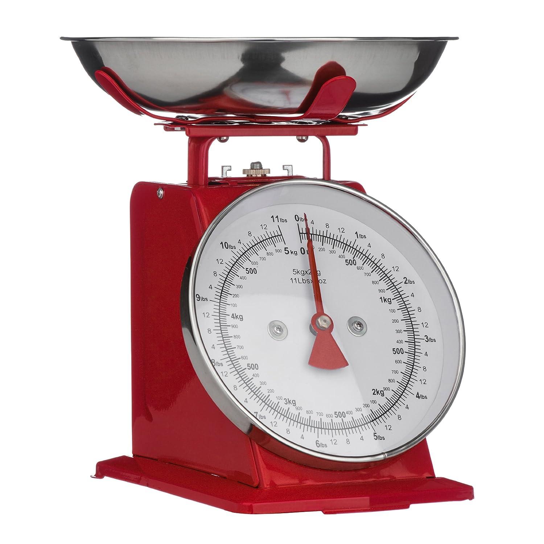 Premier Housewares 5 Kg Kitchen Scale - Cream 0807082 0807082_Cream-26x21x22cm