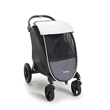 Brica Shield UPF 50 Weather And Insect Stroller Cover Grey
