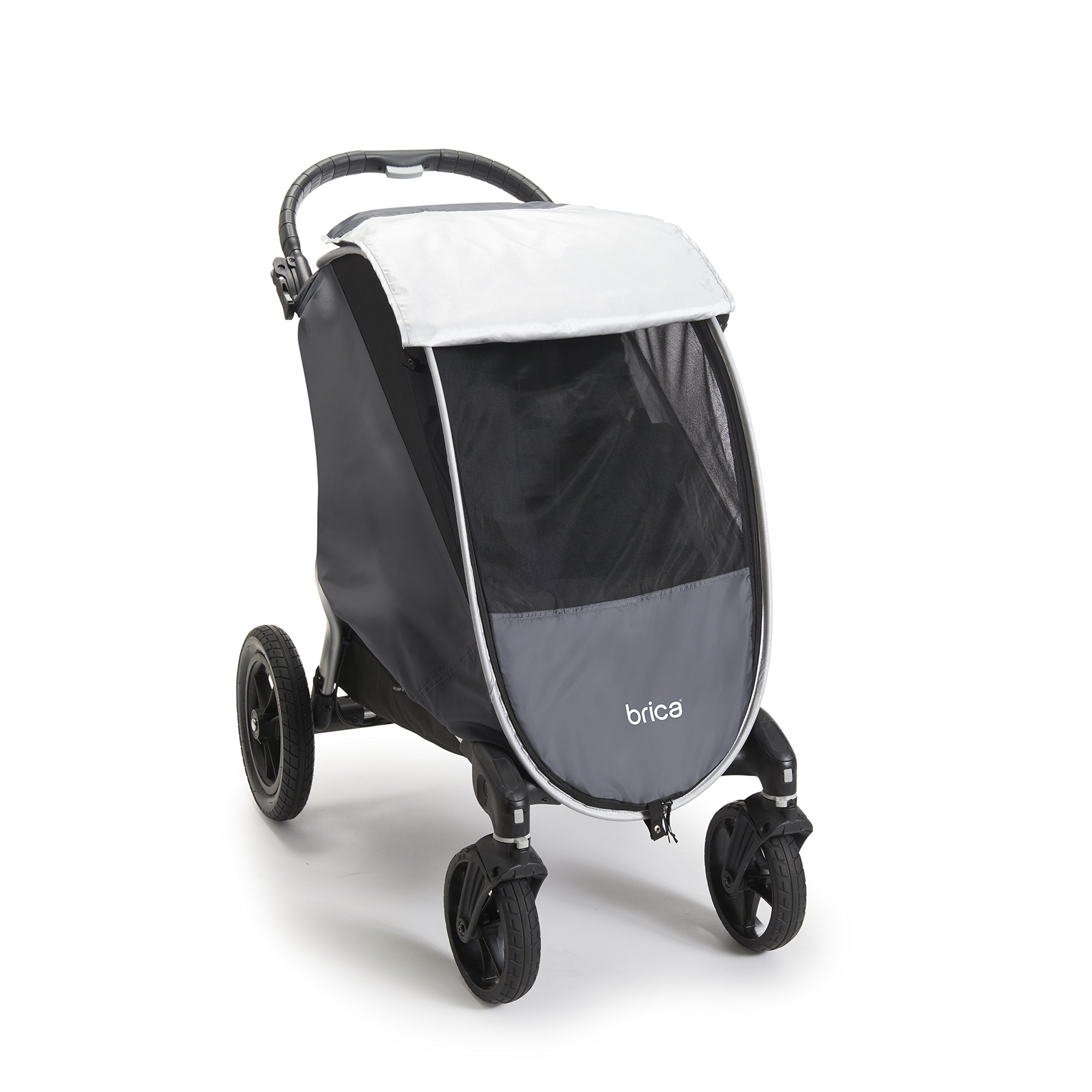 Munchkin Brica Shield Stroller Cover, Helps Block UVA/UVB Rays, Grey by Munchkin (Image #1)