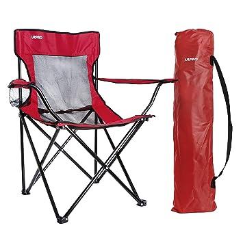 URPRO Sillas,Silla Camping Silla Playa para Camping, Senderismo, Playa, Pesca, Silla de Camping Ligera