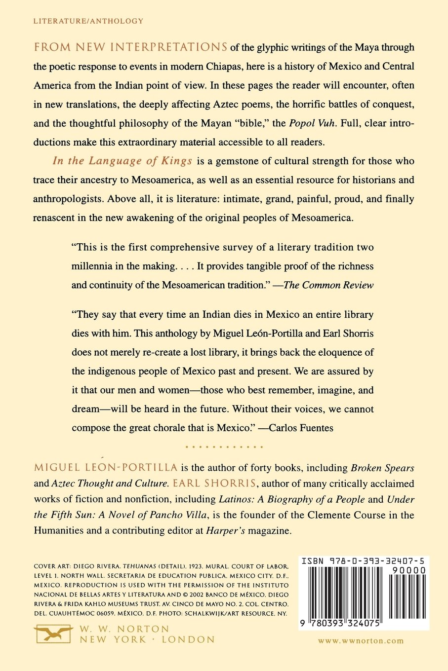 In the Language of Kings: An Anthology of Mesoamerican Literature, Pre-Columbian to the Present