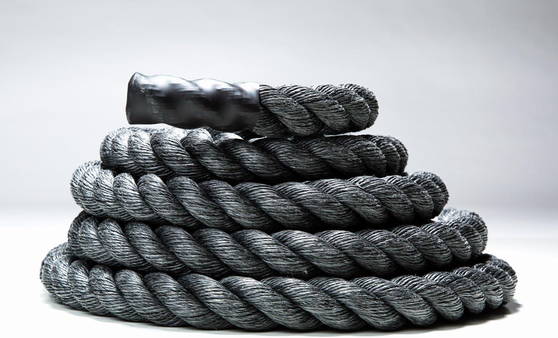 USA MadeブラックポリDACトレーニングロープ/Battleロープ+無料アクセスをオンラインビデオ  2\