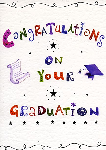 congratulations on your graduation card finished with silver foil