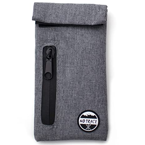Rolling Tobacco Pouch – Herb Smoking Accessories – Smell Proof Bag – 3 x  6-inch Odorless Activated Carbon-Lined Bag with Zipper – 5-Layer Odor