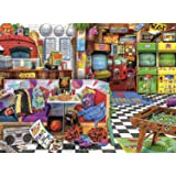 Buffalo Games - Aimee Stewart - Pixels and Pizza - 1000 Piece Jigsaw Puzzle, Multi