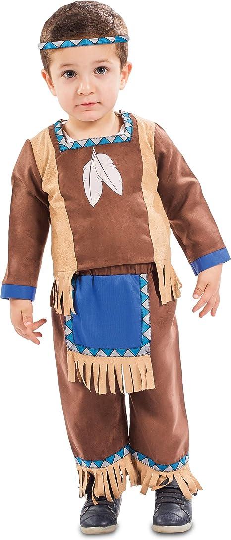 Disfraz de Indio Marrón con Flecos para bebé: Amazon.es: Juguetes ...