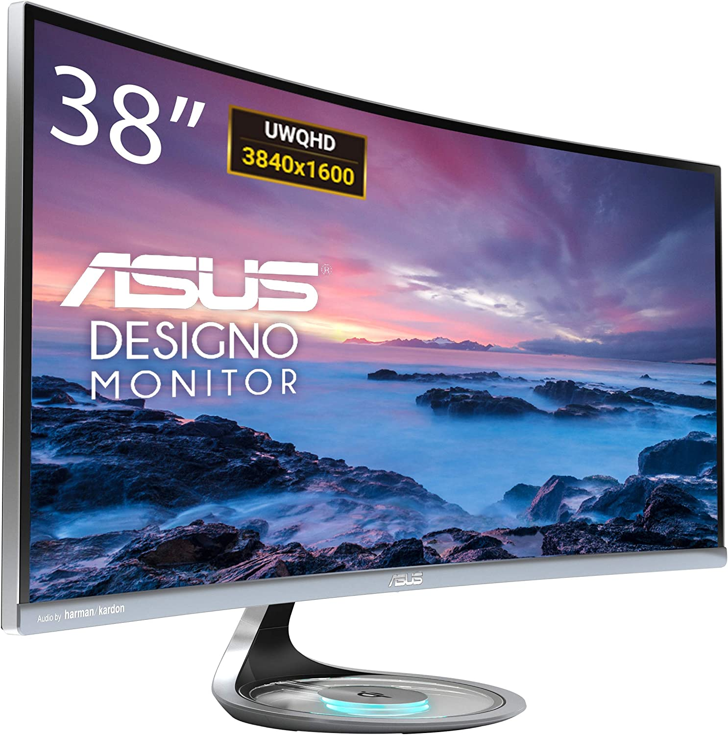 ASUS Designo Curved MX38VC 37.5″ (3840 x 1600) Uwqhd IPS Monitor with Qi Charging