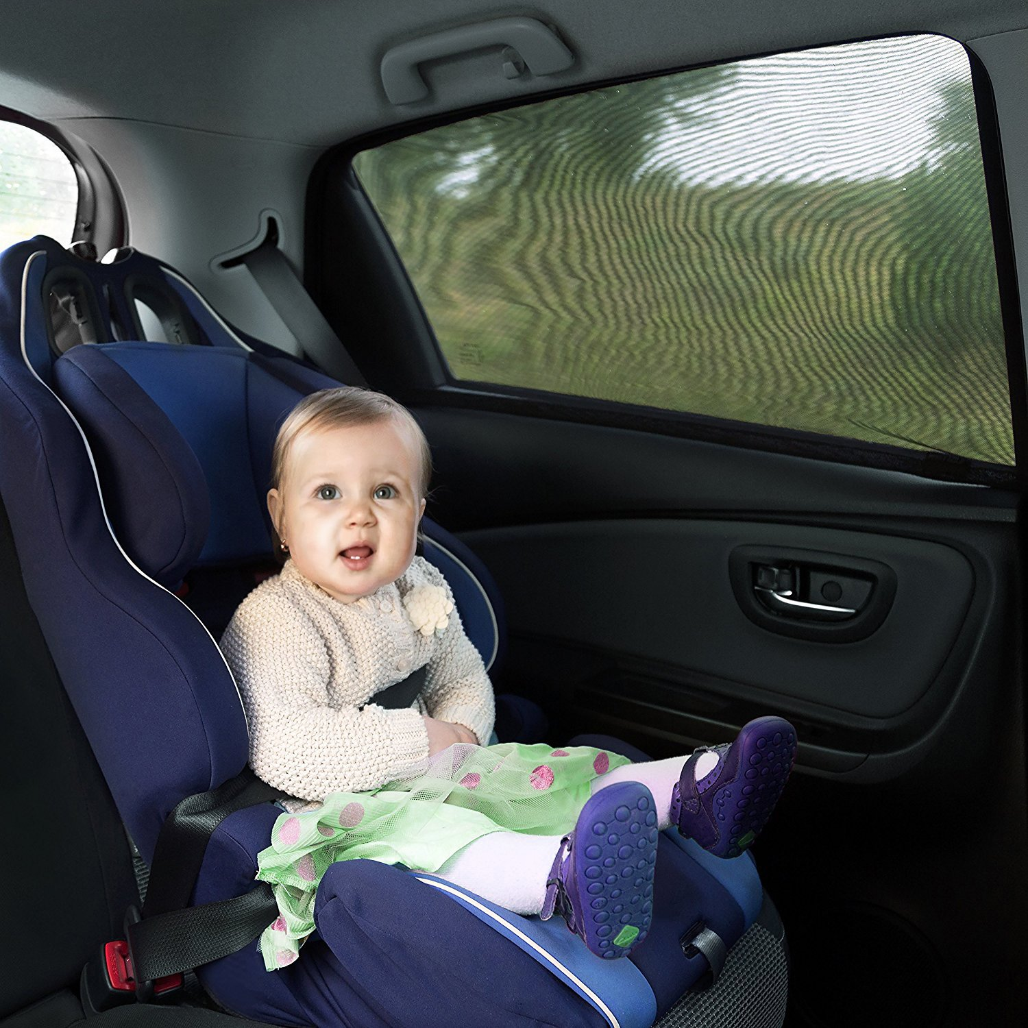 Pack of 2,Large Size Trucks and SUVs ZOTO Car Rear Window Sun Shade Universal Car Curtains Fit For Cars Premium Breathable Mesh Sun Shield protect Baby//Pet from Suns Glare /& Harmful UV Rays