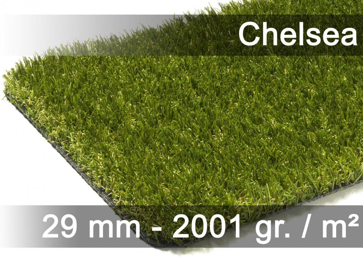 Snapstyle Chelsea - Alfombra césped Artificial Jardín, Terraza, Balcón - Verde - 13 tamaños: Amazon.es: Jardín