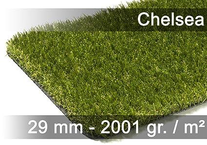 exteriortrend Luxus Kunstrasen Rasenteppich Chelsea Gr/ün in 19 Gr/ö/ßen