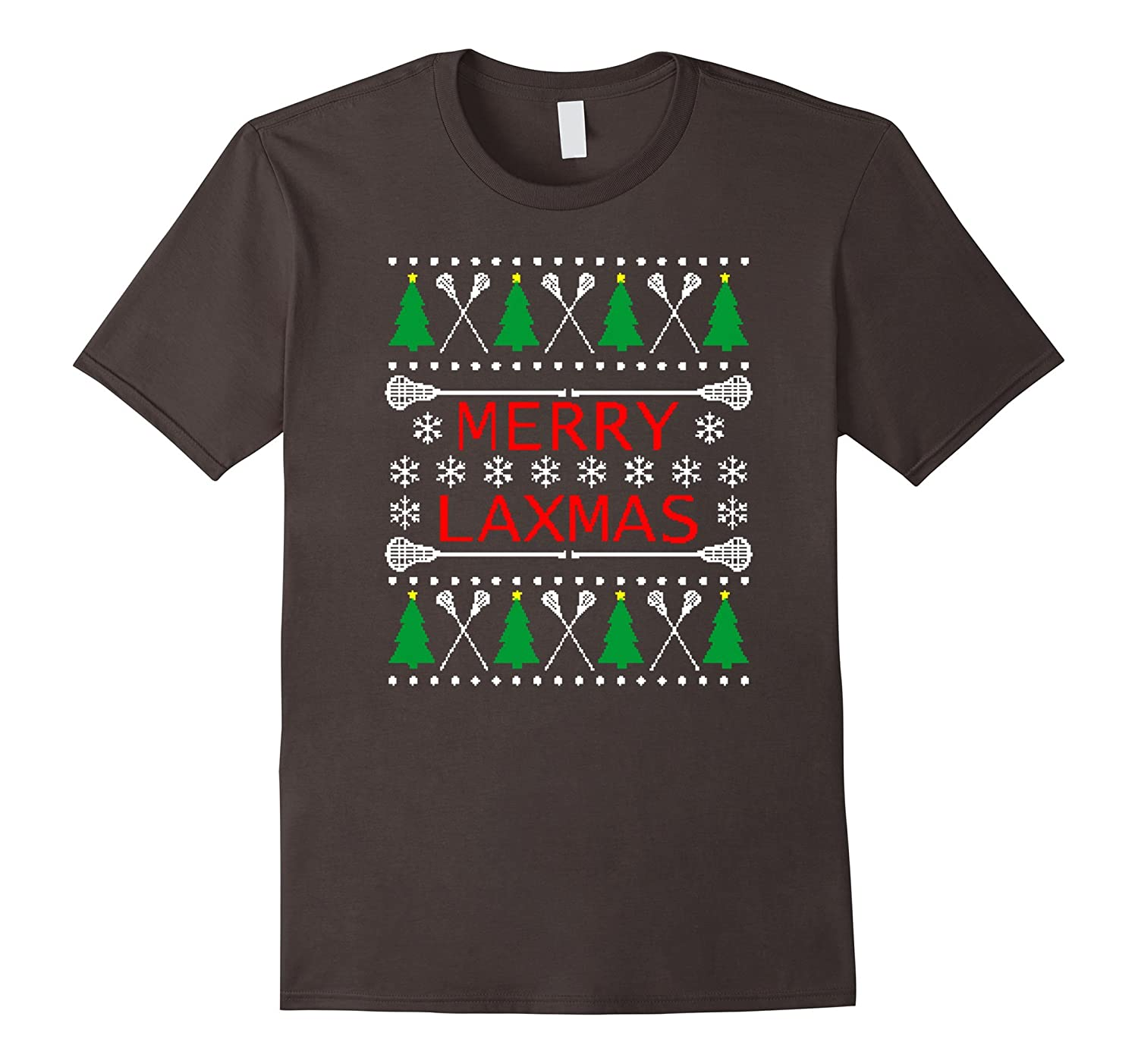 Merry Laxmas  Lacrosse Ugly Christmas Sweater Style T-Shirt