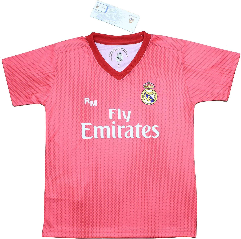 Personalizador Conjunto Complet Infantil Real Madrid R/éplica Oficial Licenciado de la Tercera Equipaci/ón Temporada 2018-19 Sin Dorsal