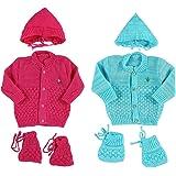 Montu Bunty Wear Unisex Regular Fit Clothing Set (Pack of 2) (OG3-StrawSurf_Strawberry Turq_NB)