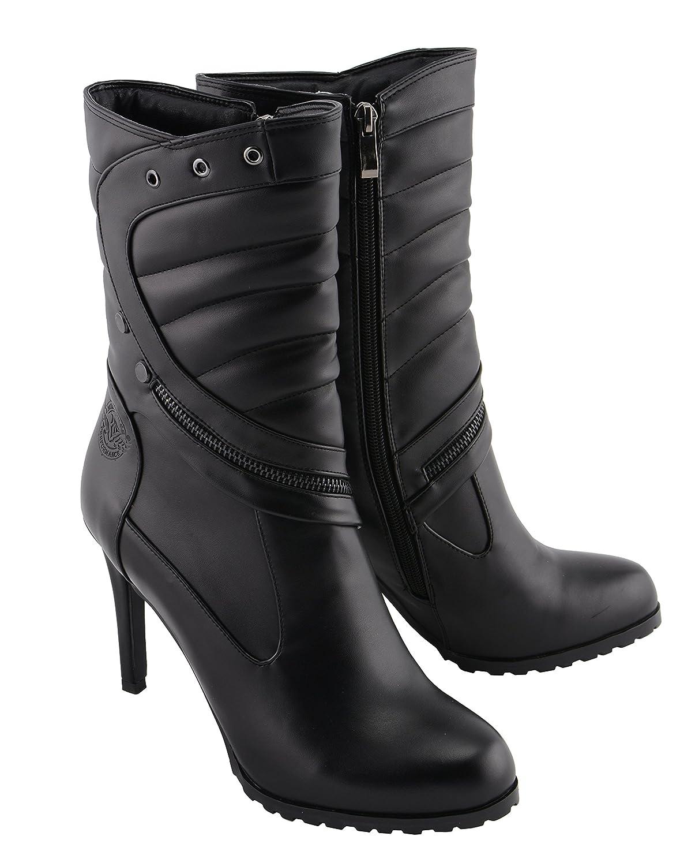 Milwaukee Performance Women's High Heel Boot (Black, 8) MBL9434-BLACK-8