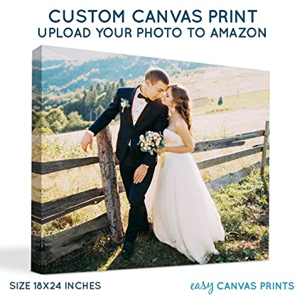 amazon com your photo on custom personalized canvas prints 18x24