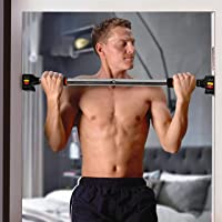 HANDZ Pull Up/Push Up Doorway Home Gym Fitness Bar-Exercise Workout Bar – No Screws- No Tools- Secure Comfort Grips Adjustable Width