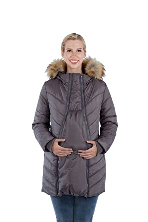 609410fc3f20e Modern Eternity Maternity Jacket 3 in 1 Technology Hooded Puffer by ...
