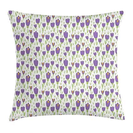 Amazon.com: YXZILH - Funda de cojín de tulipán, diseño de ...