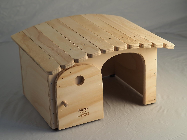 Caseta para gatos indoor con tejado tiragraffi Tina Talla M, profesional sin fondo Blitzen Made in Italy 100%: Amazon.es: Jardín