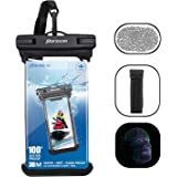 [2018 New Version] Universal Waterpoof Case, Parasom IPX8 Waterproof Phone Pouch Dry Bag with armband touch ID fingerprint, fit for Iphone X/8/8 Plus/7/7Plus/6s/6/6Plus Samsung Galaxy S9/S9 Plus/S8/S8 Plus/S7/Note8/6/5 Google Pixel 2 LG HTC10 (Black)