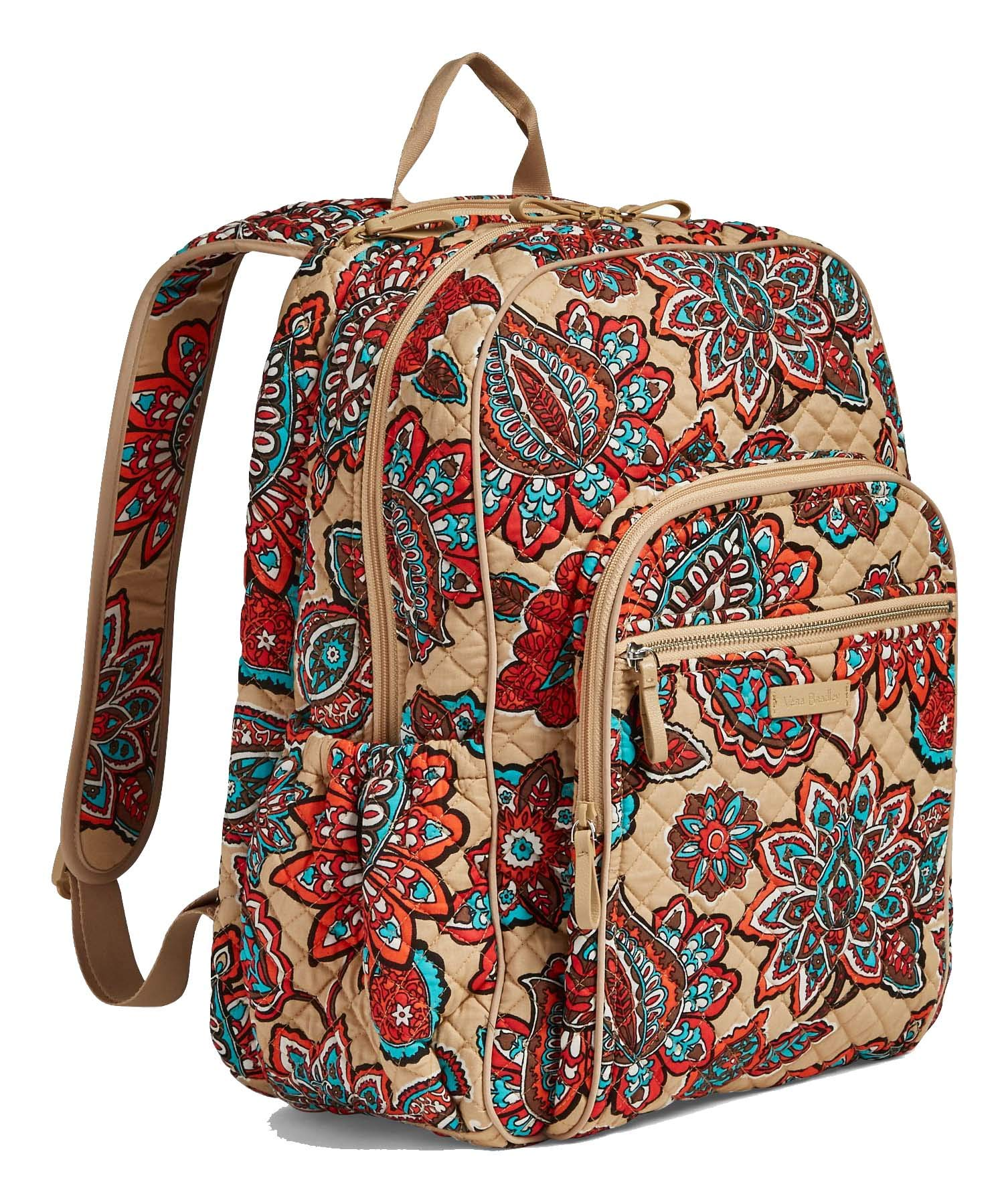 Vera Bradley Iconic Campus Backpack, Signature Cotton (One Size, Desert Floral) by Vera Bradley
