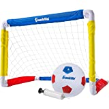 Franklin Sports Kids Mini Soccer Goal Set - Backyard/Indoor Mini Net and Ball Set with Pump - Portable Folding Youth Soccer G