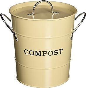 Exaco CPBS 01 1-Gallon 2-in-1 Indoor Compost Bucket, Oatmeal