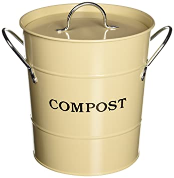 Amazon.com : Exaco CPBS 01 1 Gallon 2 In 1 Indoor Compost Bucket, Oatmeal : Composting  Bins : Garden U0026 Outdoor