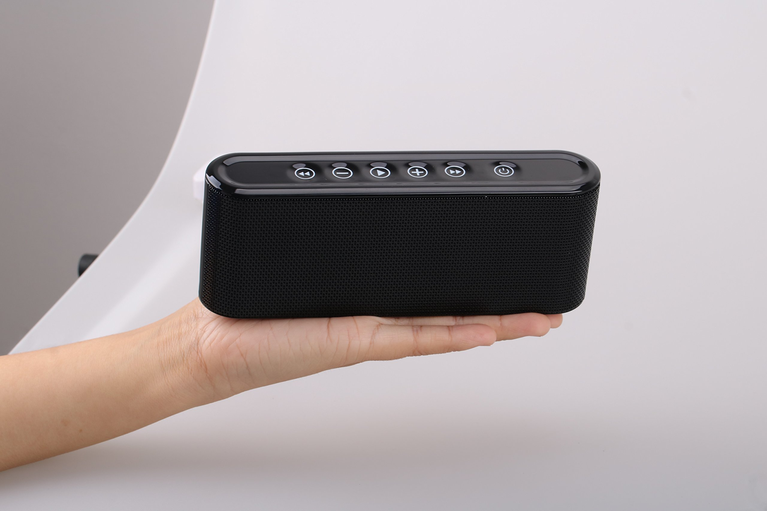Bluetooth Speakers, 6W Touch Metal Speakers, Mini Portable Bluetooth 4.2 Wireless with Super Bass, Treble Stereo Subwoofer, Support TF Card, USB Disk, 3.5mm AUX Input,Mobile Computer Accessories by WORENMI (Image #9)