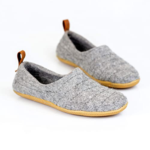 0544a543d1f Amazon.com: NEW BureBure Natural Wool Men Slippers Cocoon Handmade ...