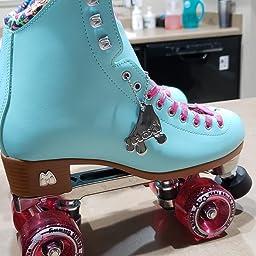 Amazon Com Customer Reviews Moxi Skates Beach Bunny Fashionable Womens Roller Skates Periwinkle Sunset Size 2