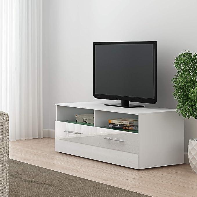 Conemi - Mueble para televisor con cajones, 100 x 35 x 45 cm, Color Blanco: Amazon.es: Hogar