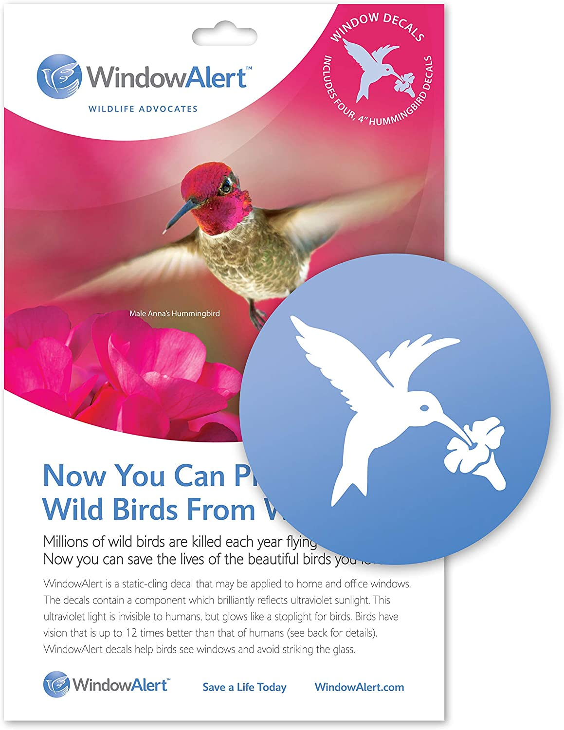 Protect Wild Birds from window strikes by using WindowAlert Butterfly decals
