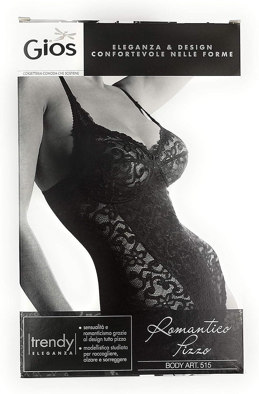 515 GIOS Body Donna Linea Romantico Pizzo Art