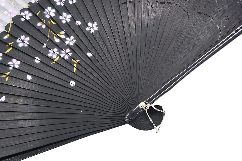 meifan Chinese//Japanese Long Bamboo Leg Silk Folding Fans FMM Red