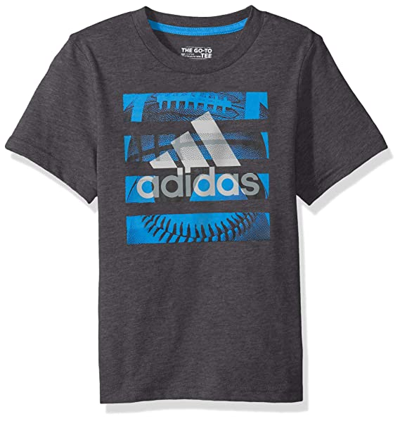 98815cd278f Amazon.com  adidas Boys  Short Sleeve Graphic Tee Shirt  Clothing