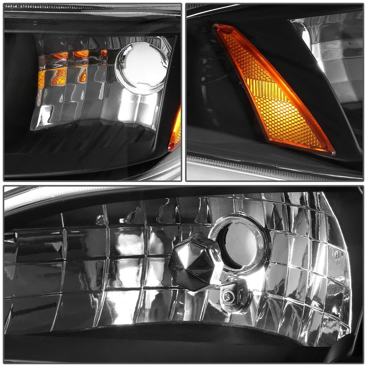DNA Motoring HL-OH-F15092-6P-BK-AM Headlight Assembly Driver /& Passenger Side