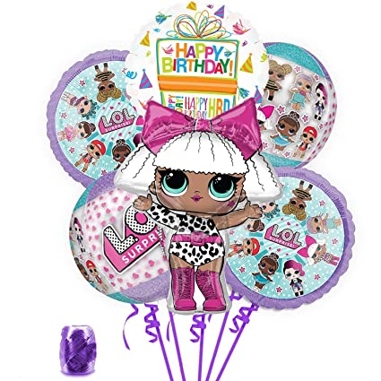 Amazon.com: LOL Party Supplies - Globo de cumpleaños con ...