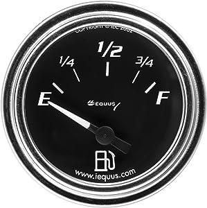 "Equus 7361 2"" Fuel Level Gauge, Chrome with Black Dial"