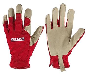 Ruf zuerst diversifiziert in der Verpackung neuartiges Design Arbeitshandschuhe Schutzhandschuhe Tragekomfort Kunstleder Größe S Rot