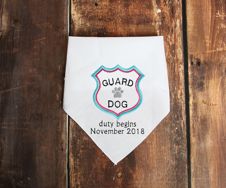 Baby Guard Dog Bandana Pregnancy Announcement
