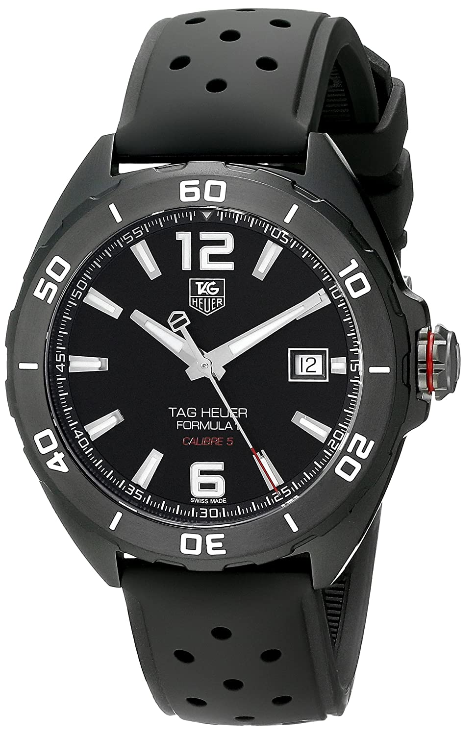2631fad34a80 Amazon.com  Tag Heuer Formula 1 Calibre 5 Black Titanium Automatic Watch  41mm WAZ2115.FT8023  Tag Heuer  Watches