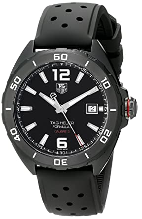 c951cc72666 Image Unavailable. Image not available for. Color  Tag Heuer Formula 1  Calibre 5 Black Titanium Automatic Watch 41mm ...