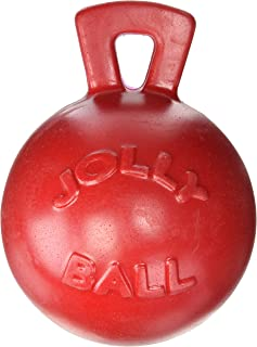 """product image for Jolly Pets Tug-n-Toss - Heavy Duty Chew Ball w/ Handle (Red, 8"""")"""