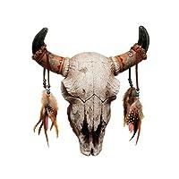 Design Toscano NG33006 Scultura da Muro Spirito dell'Ovest, Multicolore, 9x33x37 cm